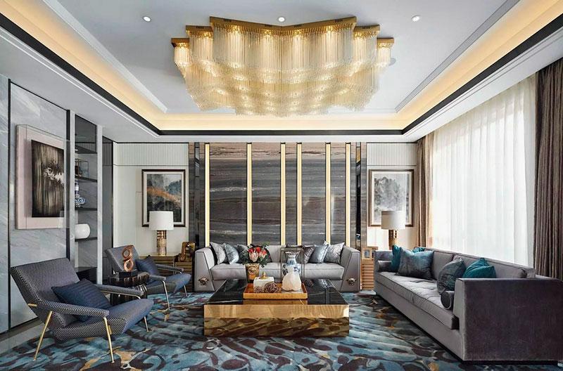 客厅|优雅时尚的中式设计