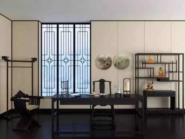 21个新中式书房设计,感受书香的气
